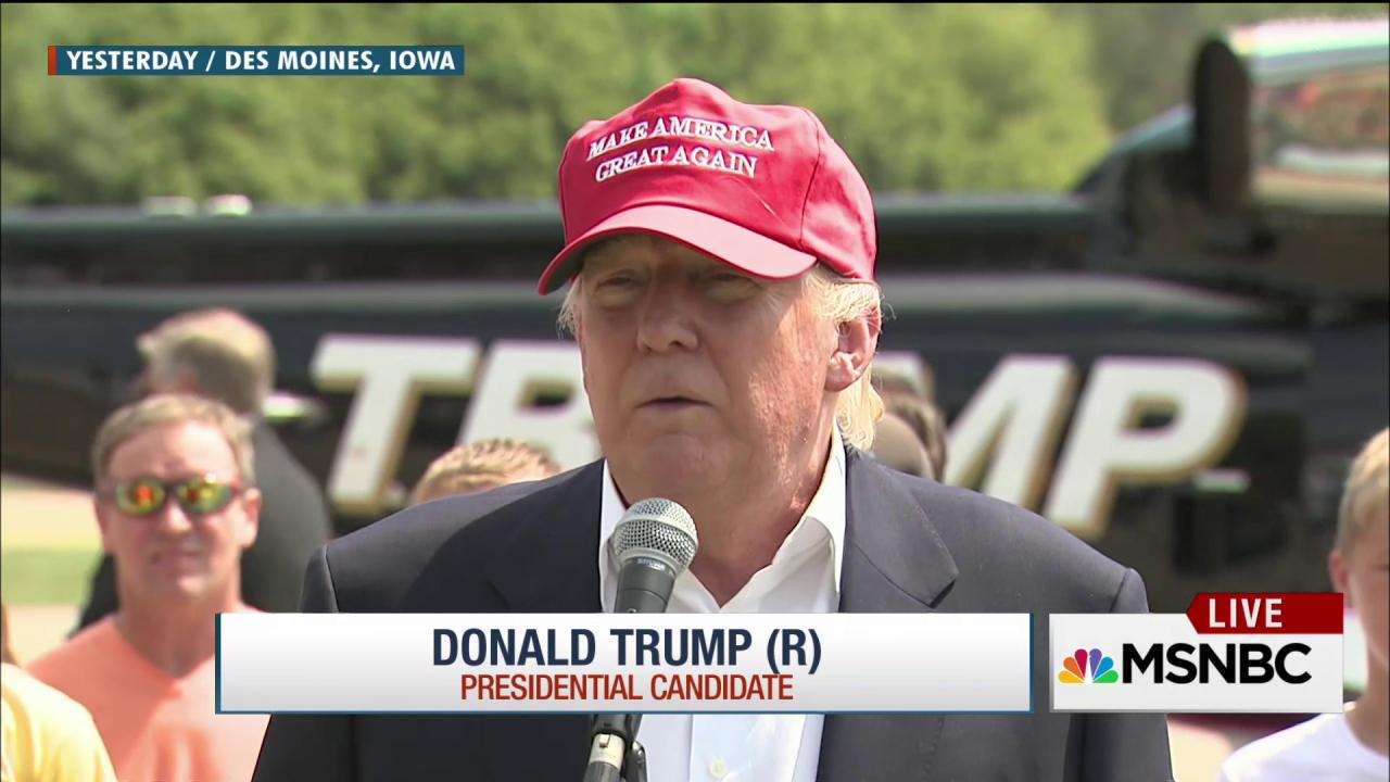 Trump bypasses convention at Iowa State Fair