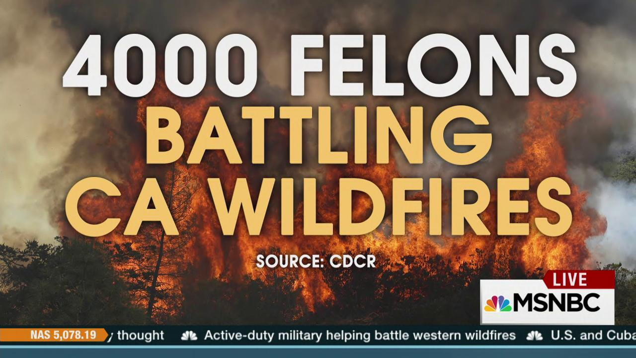 Thousands of inmates battle California fires