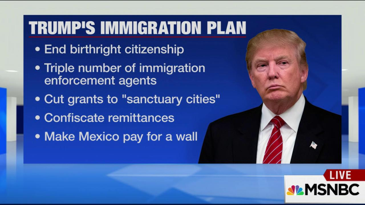 Trump: End birthright citizenship