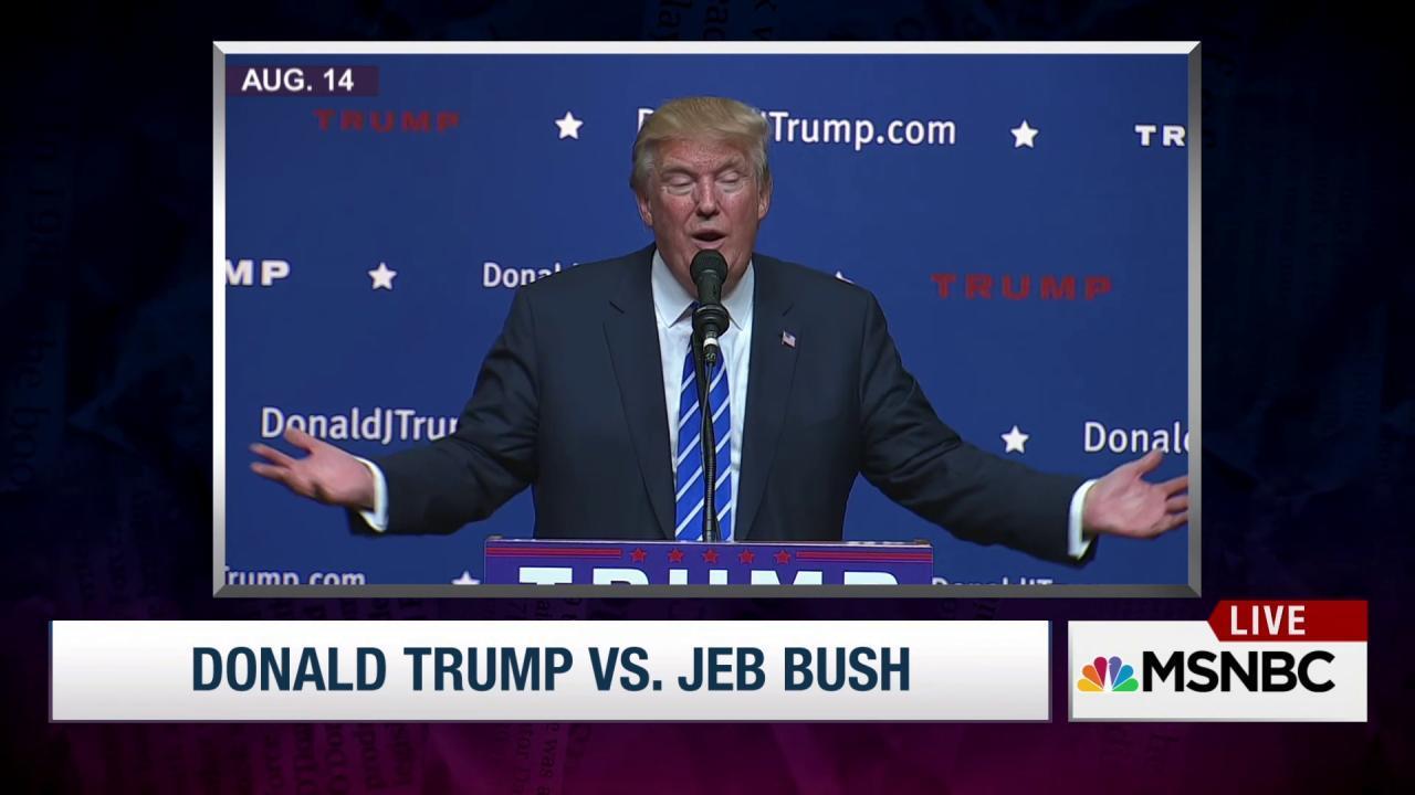Donald Trump attacks Jeb Bush