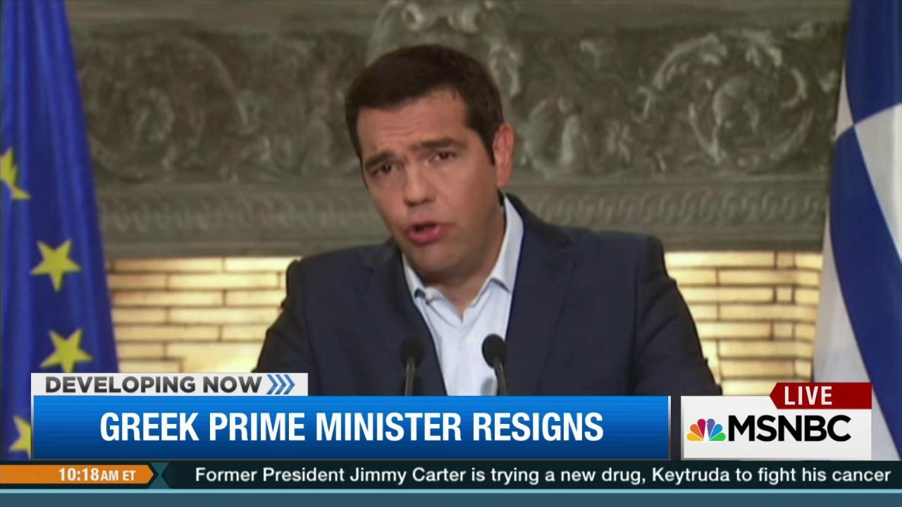 Greece's prime minister resigns