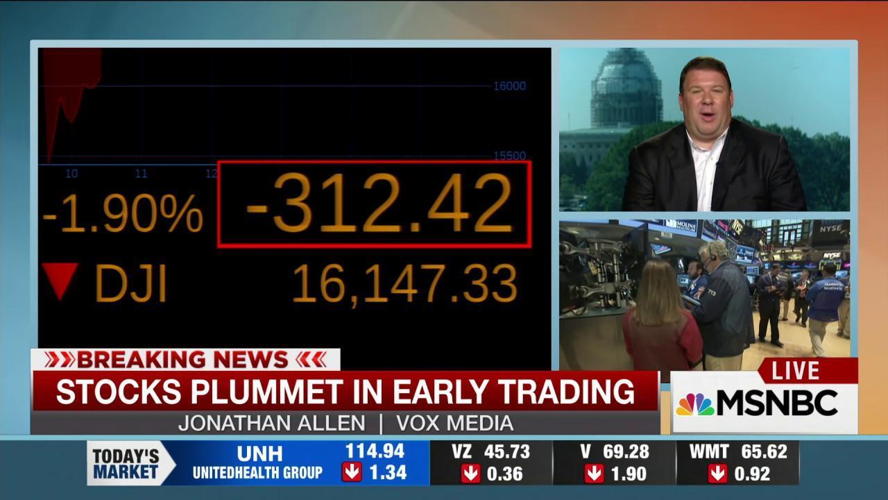 Trump, Sanders tweet about Dow plunge