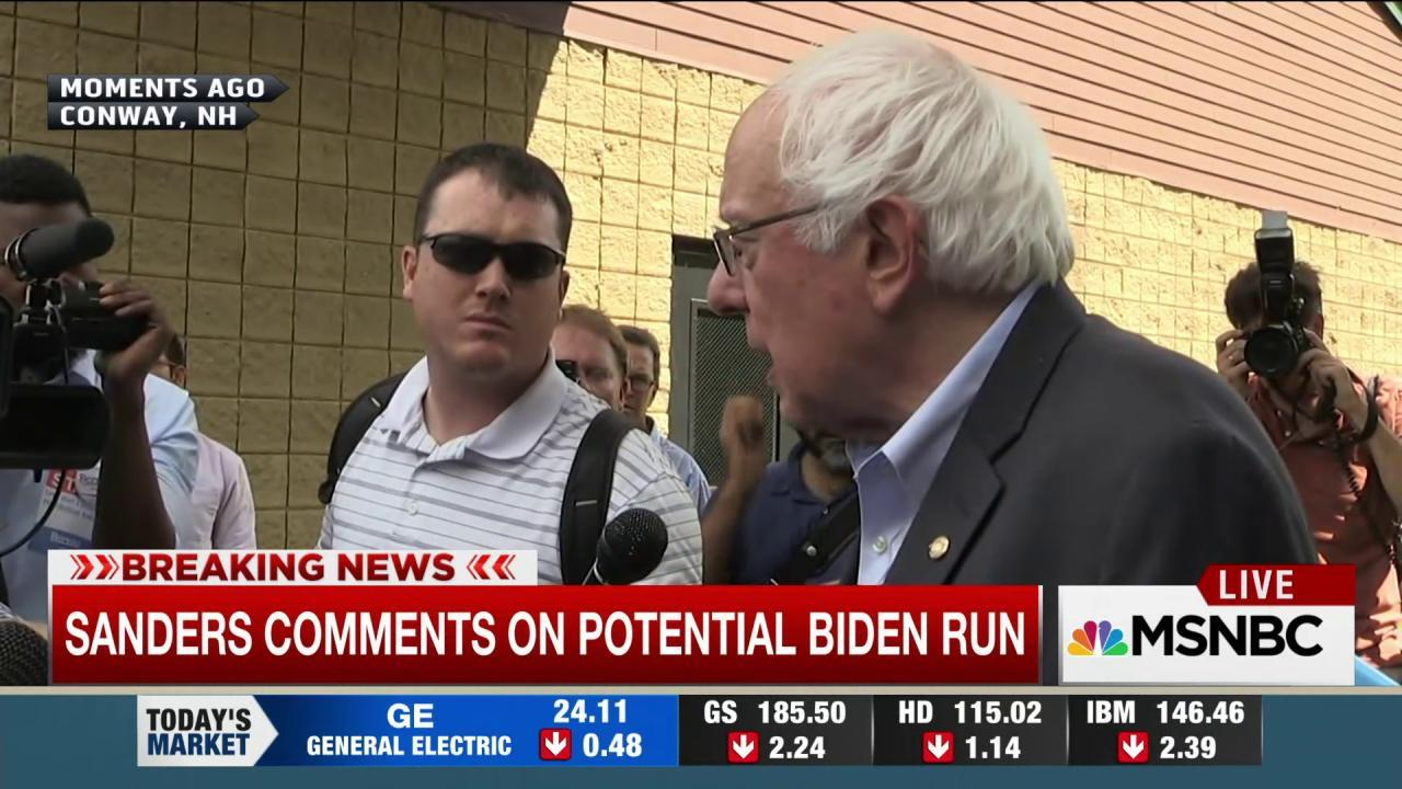 Sanders comments on Biden 2016 speculation