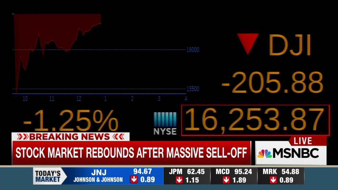 Stock market rebounds after massive sell-off