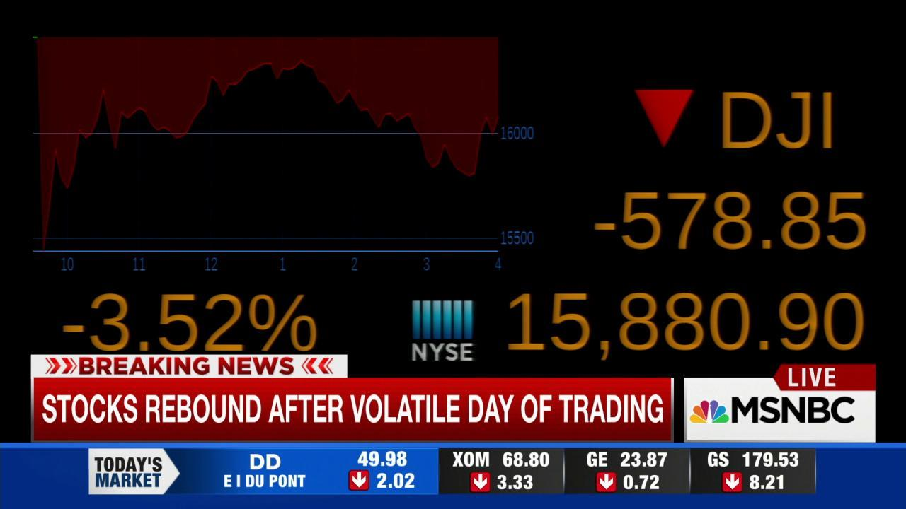 Dow closes down more than 585 points
