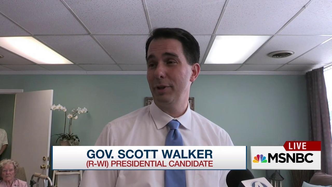 Scott Walker can't 'out-Trump' Trump