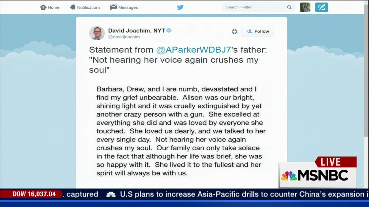 Alison Parker's father says their family...