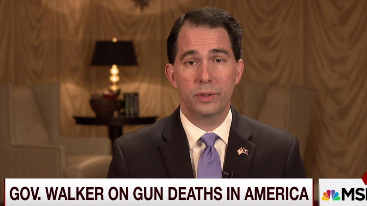 Walker on gun deaths in America