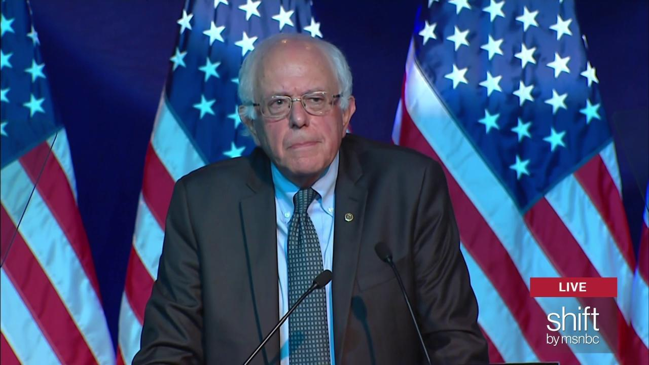 Bernie Sanders amps up crowd at DNC