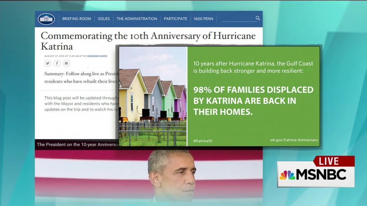 Addressing the Katrina 'victory lap'