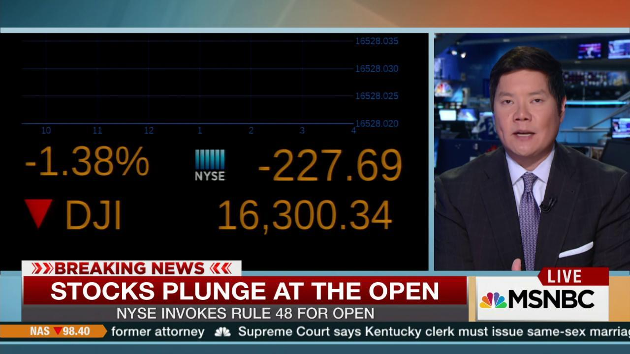 Stocks plunge at the open