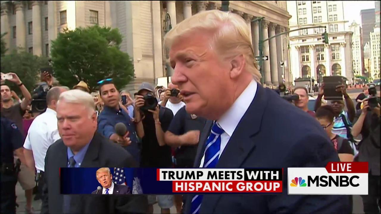 Donald Trump meets with Hispanic group