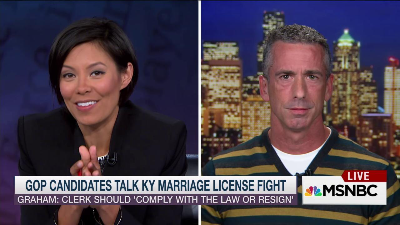 Dan Savage: Ky. clerk wants to be a 'martyr'