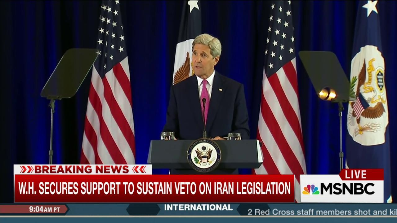 Support secured to sustain veto on Iran deal