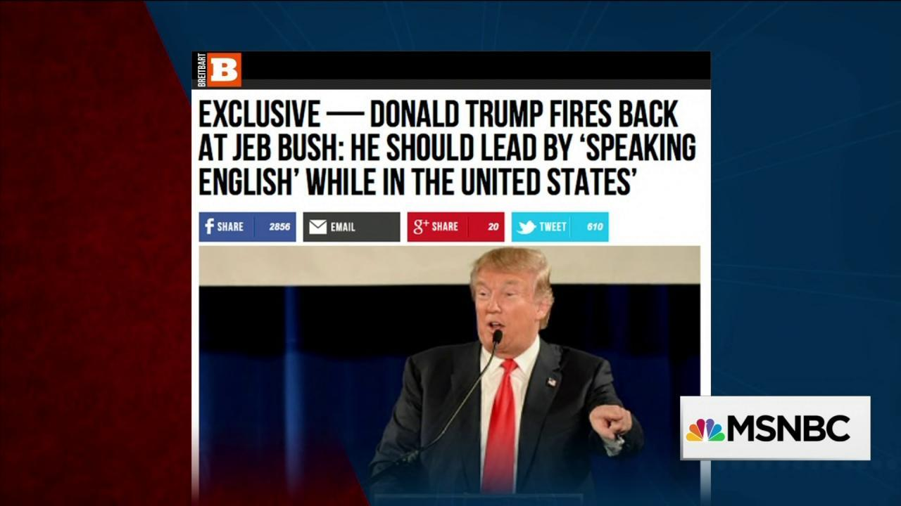 War between Donald Trump and Jeb Bush gets...