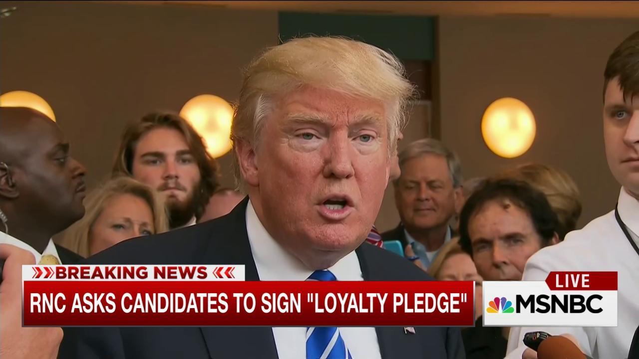 Trump, RNC meet with loyalty pledge backdrop
