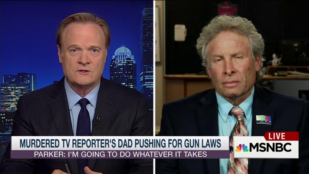 'Typical': Slain reporter's dad calls out NRA
