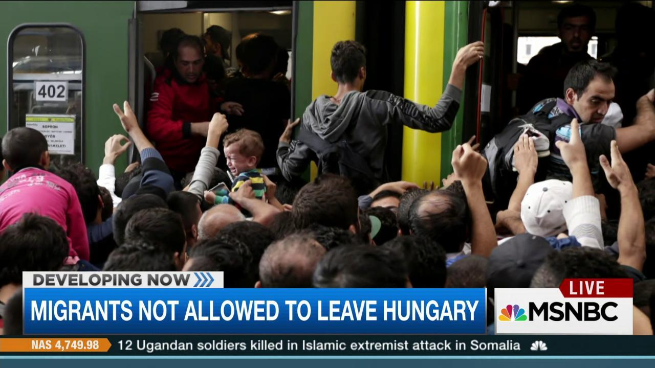 Chaos, confusion as migrants flee war