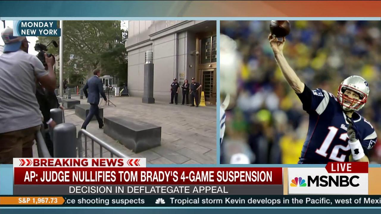 Judge drops Tom Brady's four-game suspension