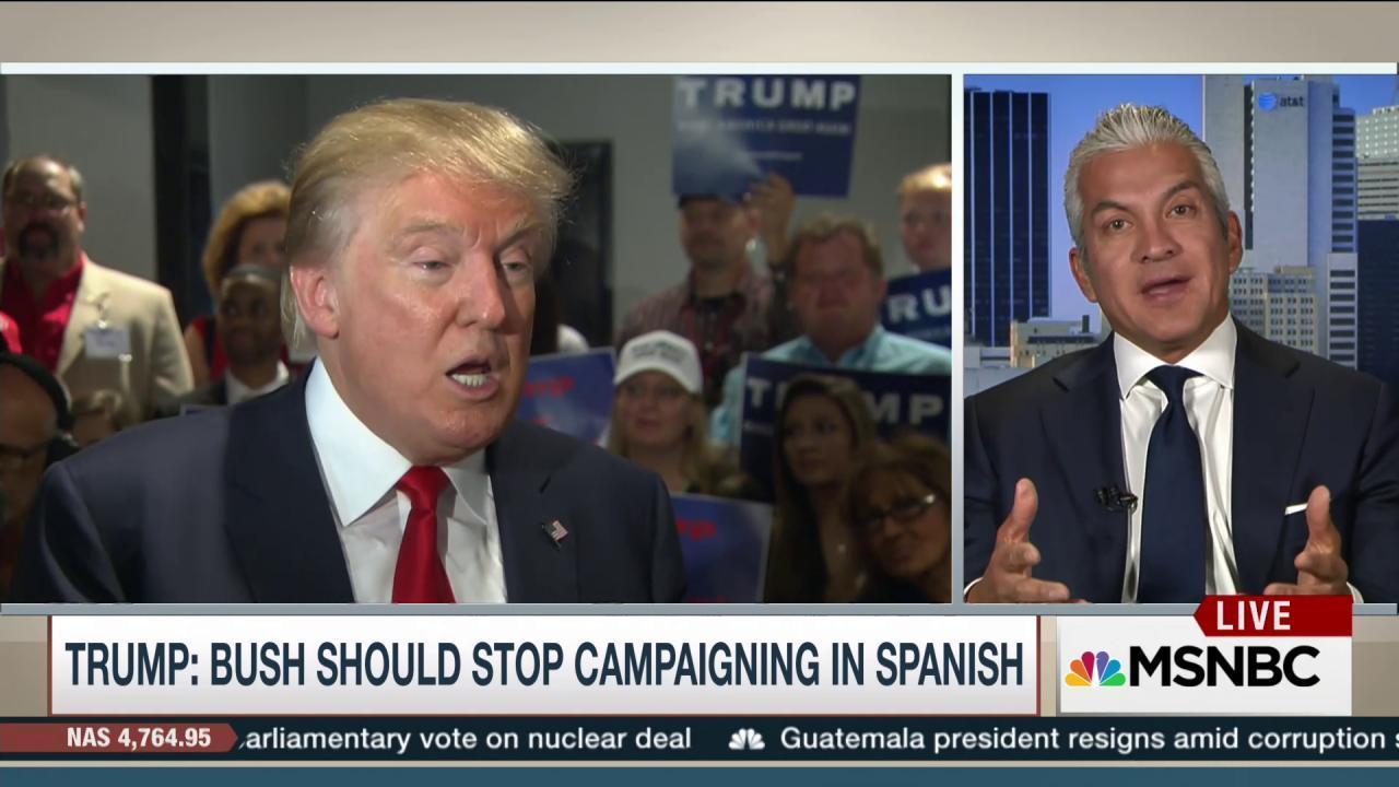 Bush, Trump exchange jabs on campaign trail