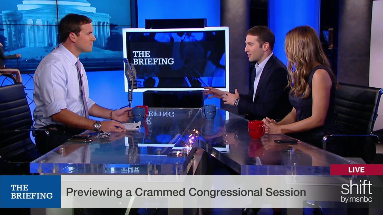 Previewing a crammed Congressional session