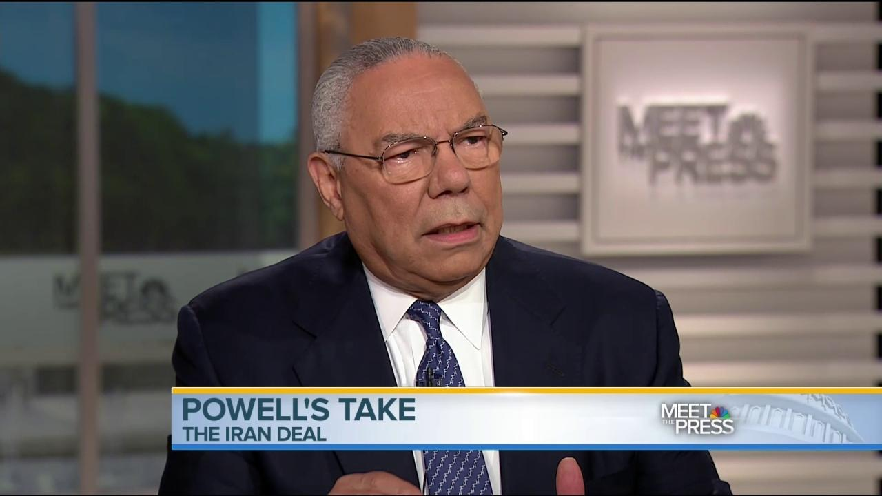 Colin Powell: Iran Deal Is a 'Pretty Good Deal'