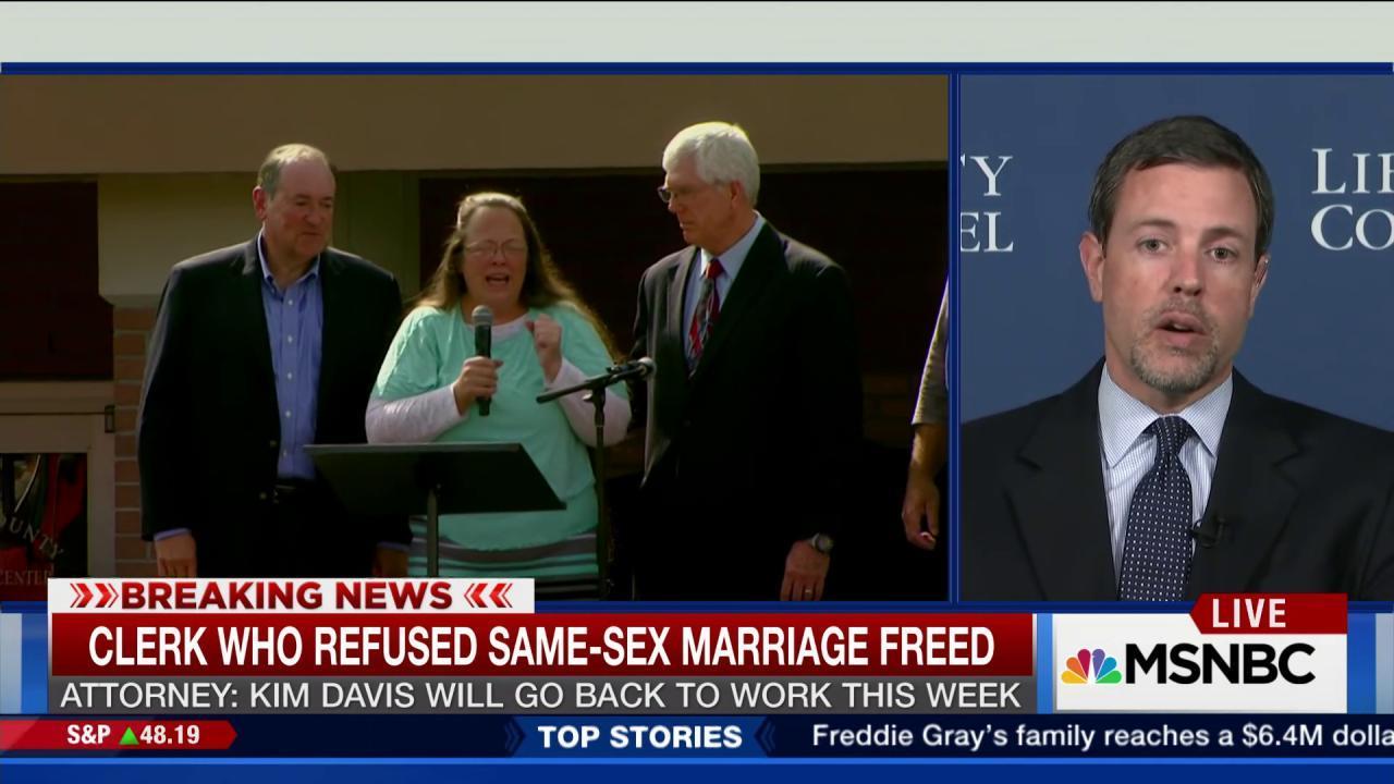 Kim Davis' attorney on her release
