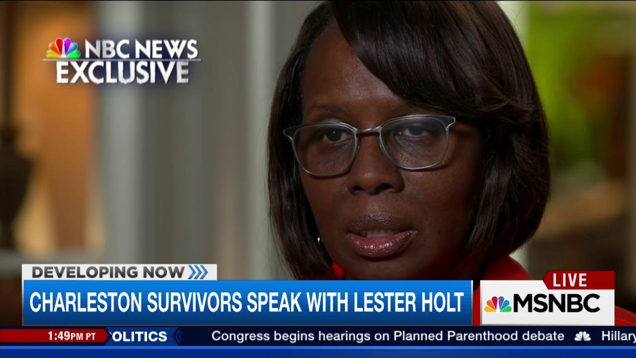 Charleston survivors speak with Lester Holt