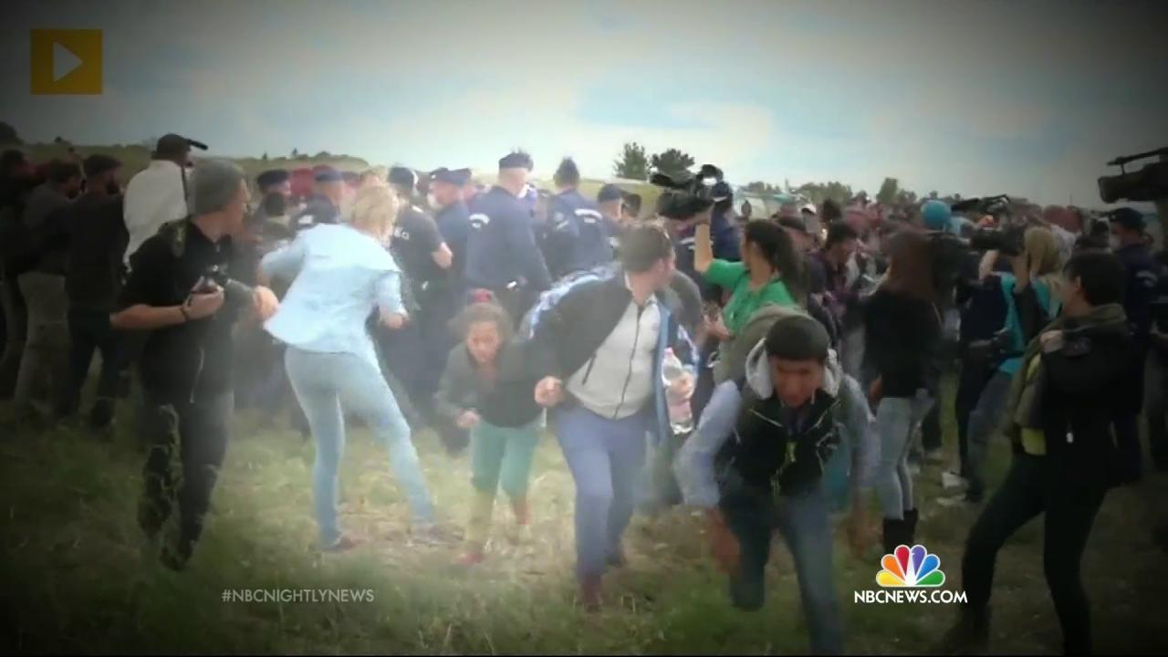 TV Camerawoman Fired After Tripping Fleeing Migrants Says Sorry