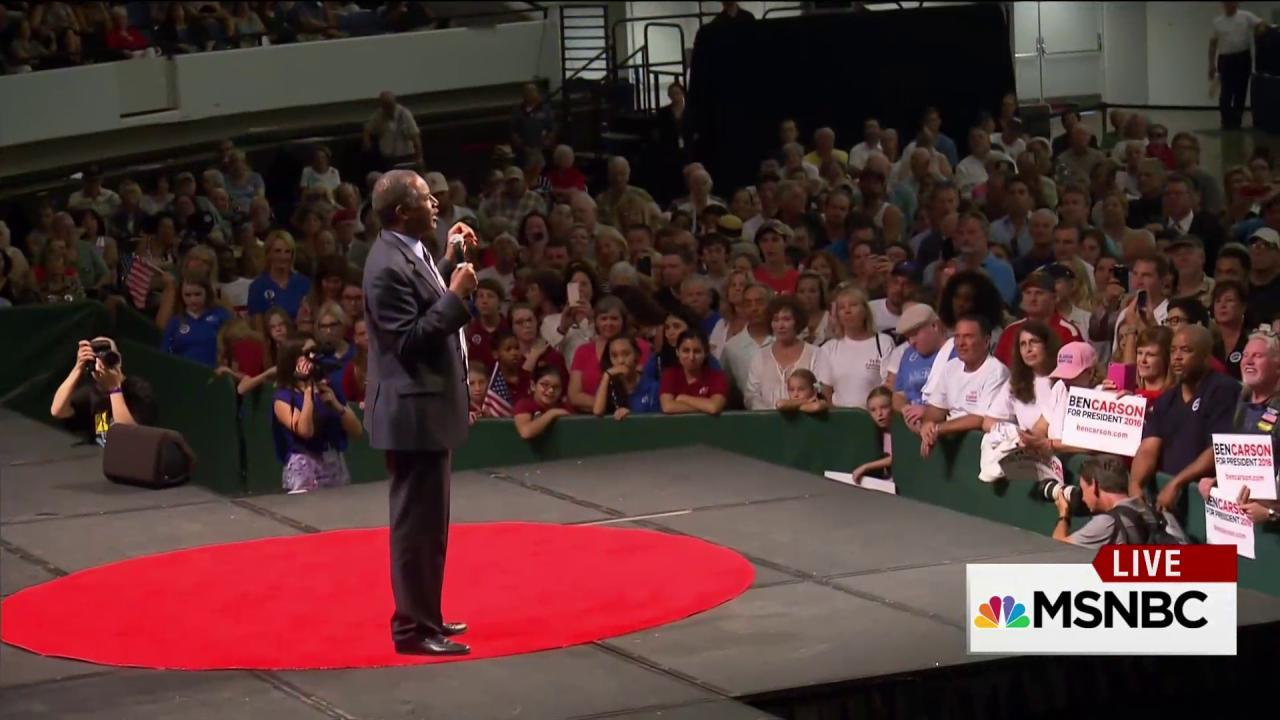 Ben Carson draws thousands at campaign stops