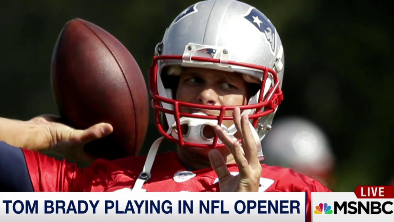 Tom Brady playing in NFL opener