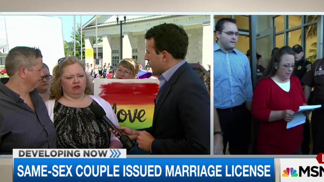 Same-sex couple issued marriage license in KY