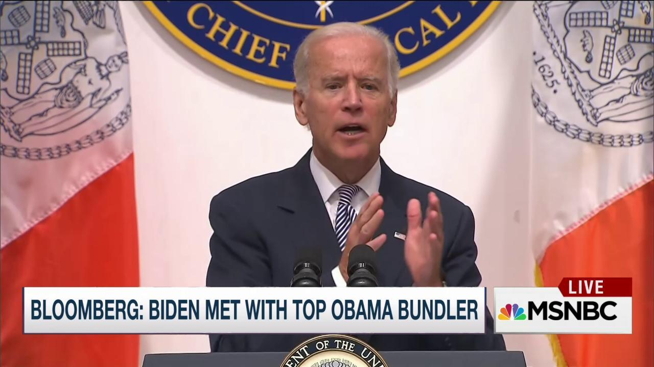 Report: Biden met with top Obama Bundler