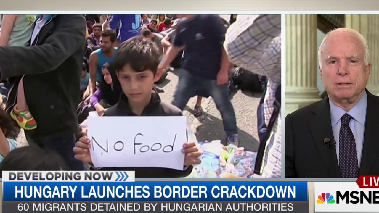 McCain on migrant crisis: It's ...