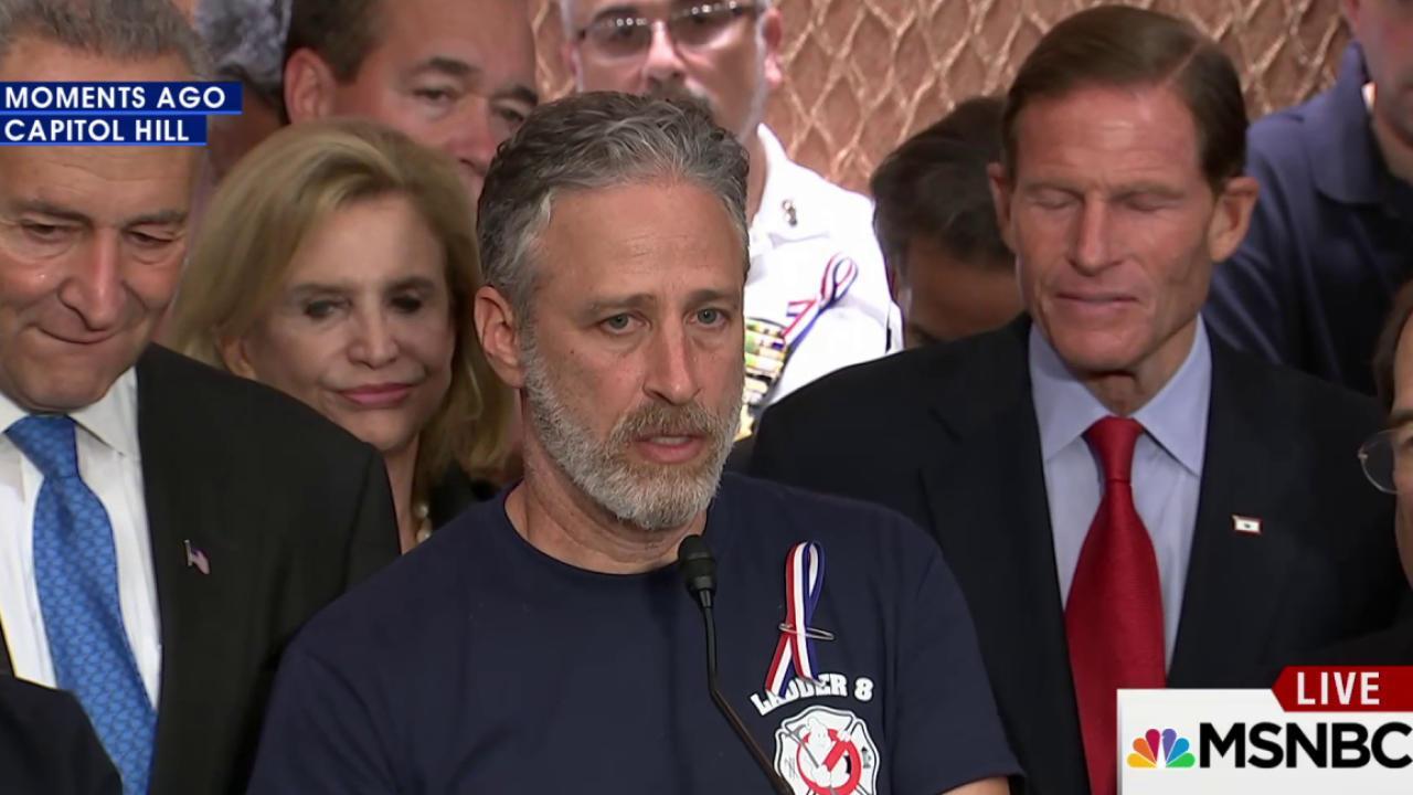 Jon Stewart lobbies Congress for 9/11...