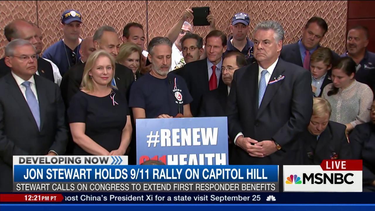 Jon Stewart holds 9/11 rally