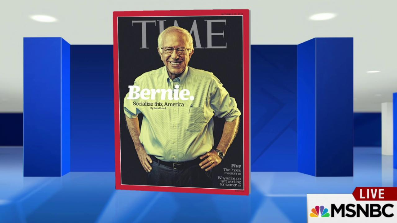 Bernie Sanders graces cover of Time