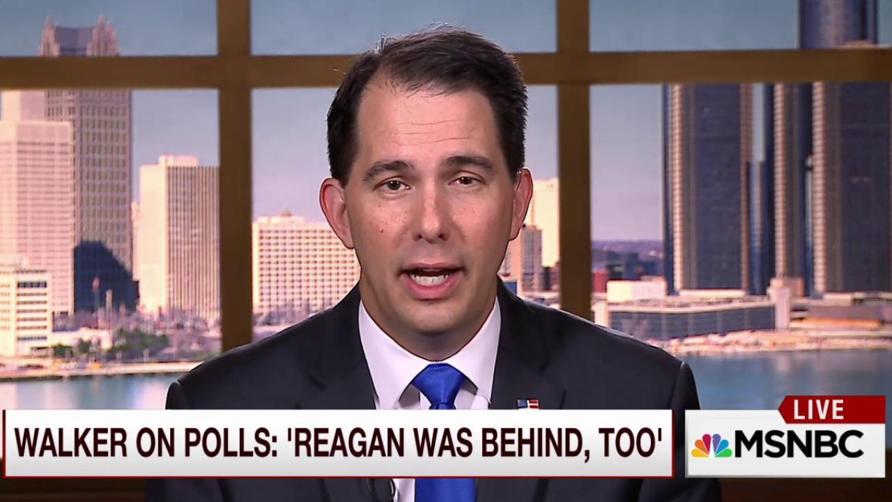 Walker on polls: Ronald Reagan was behind,...