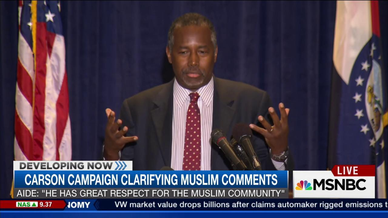 Should Carson drop out of race?