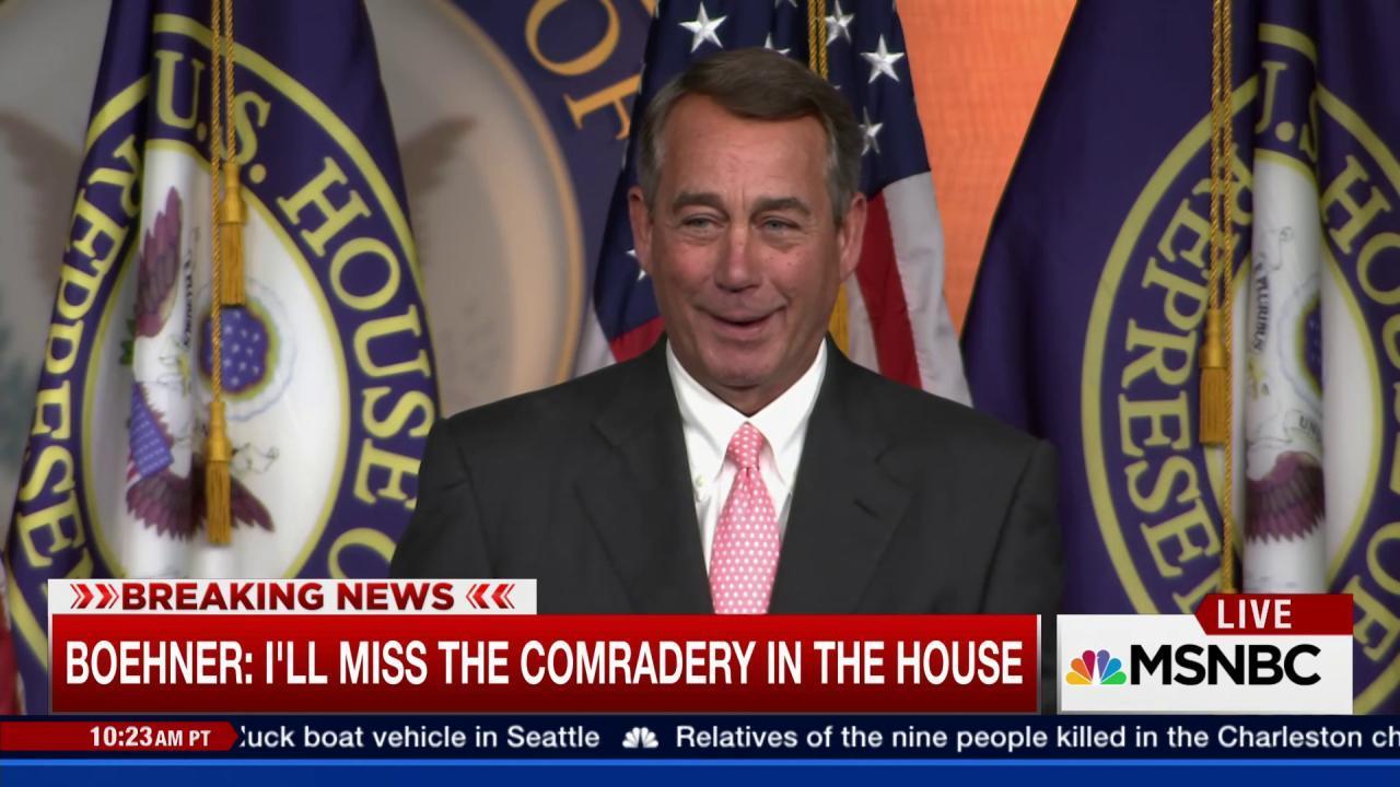 Full video: Boehner presser on resignation