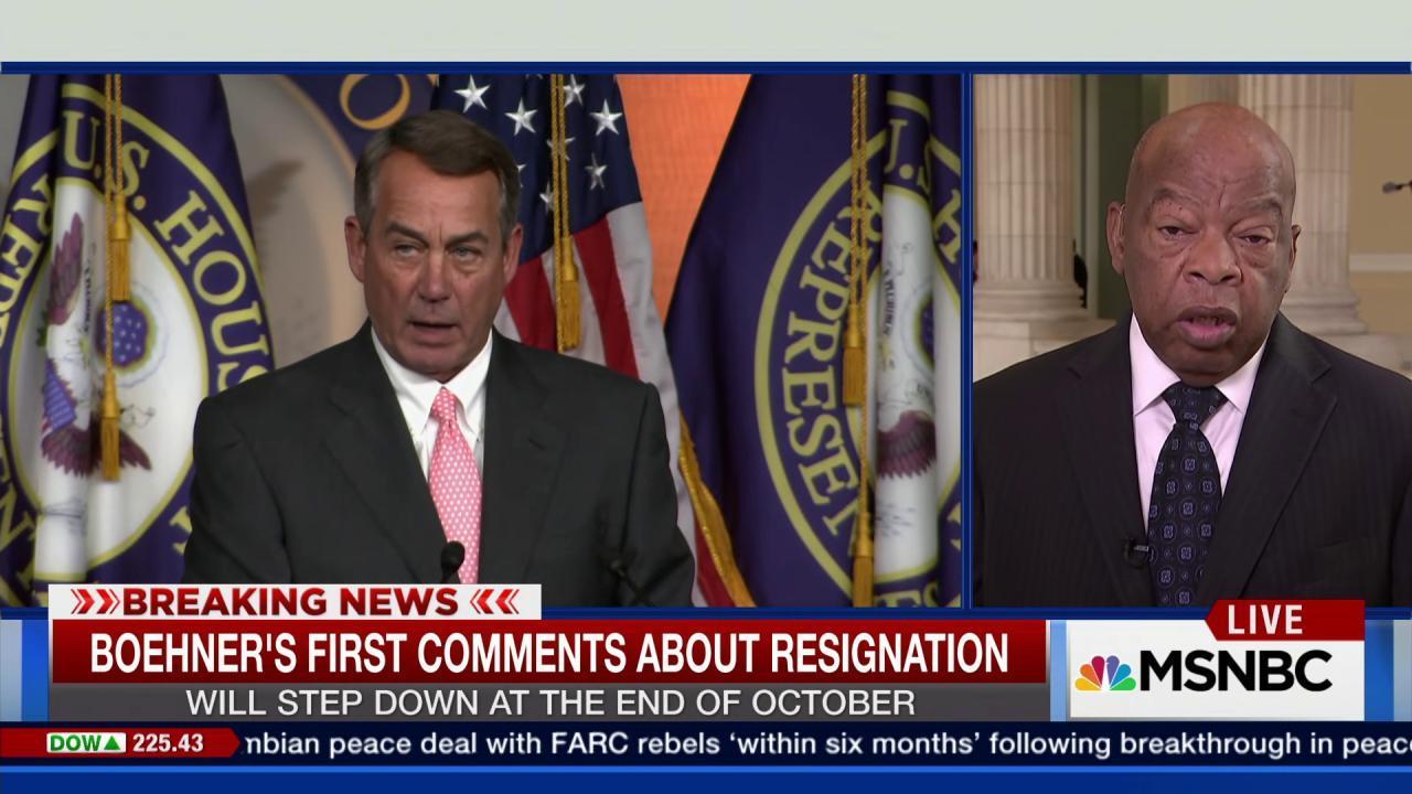 Rep. John Lewis discusses John Boehner