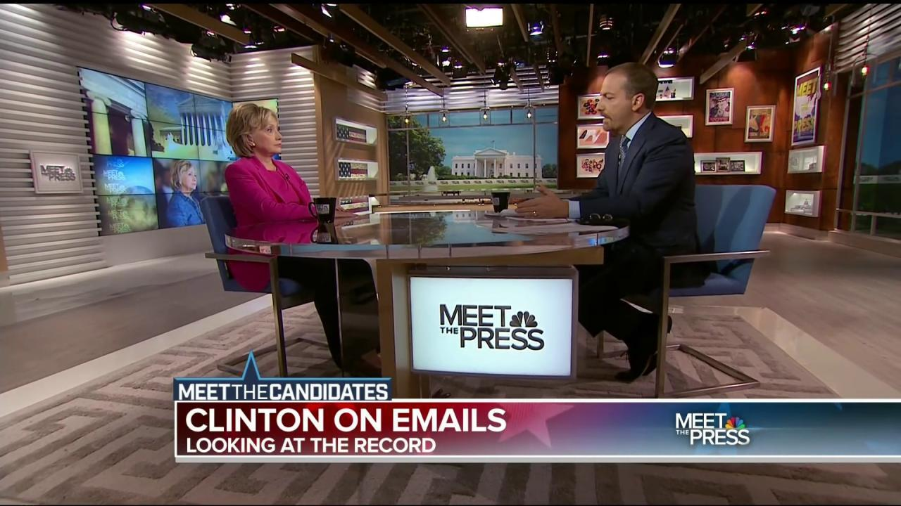nbc meet the press hillary clinton