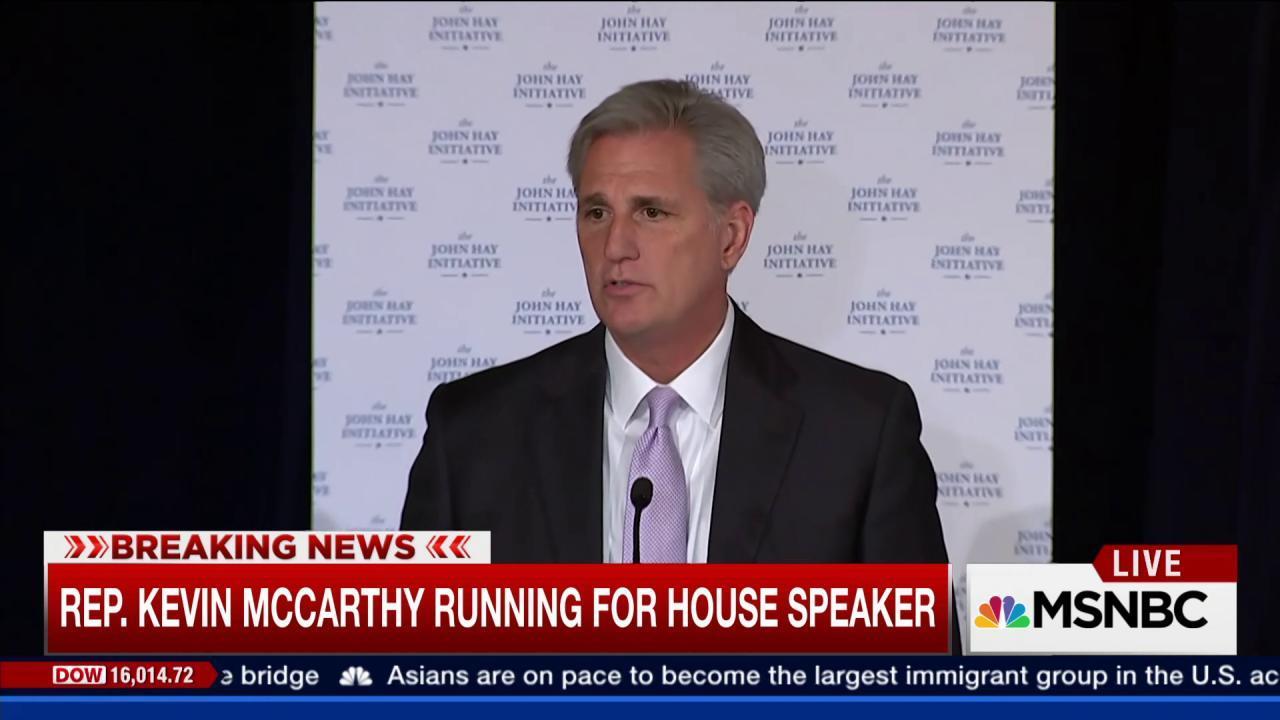 McCarthy running for house speaker