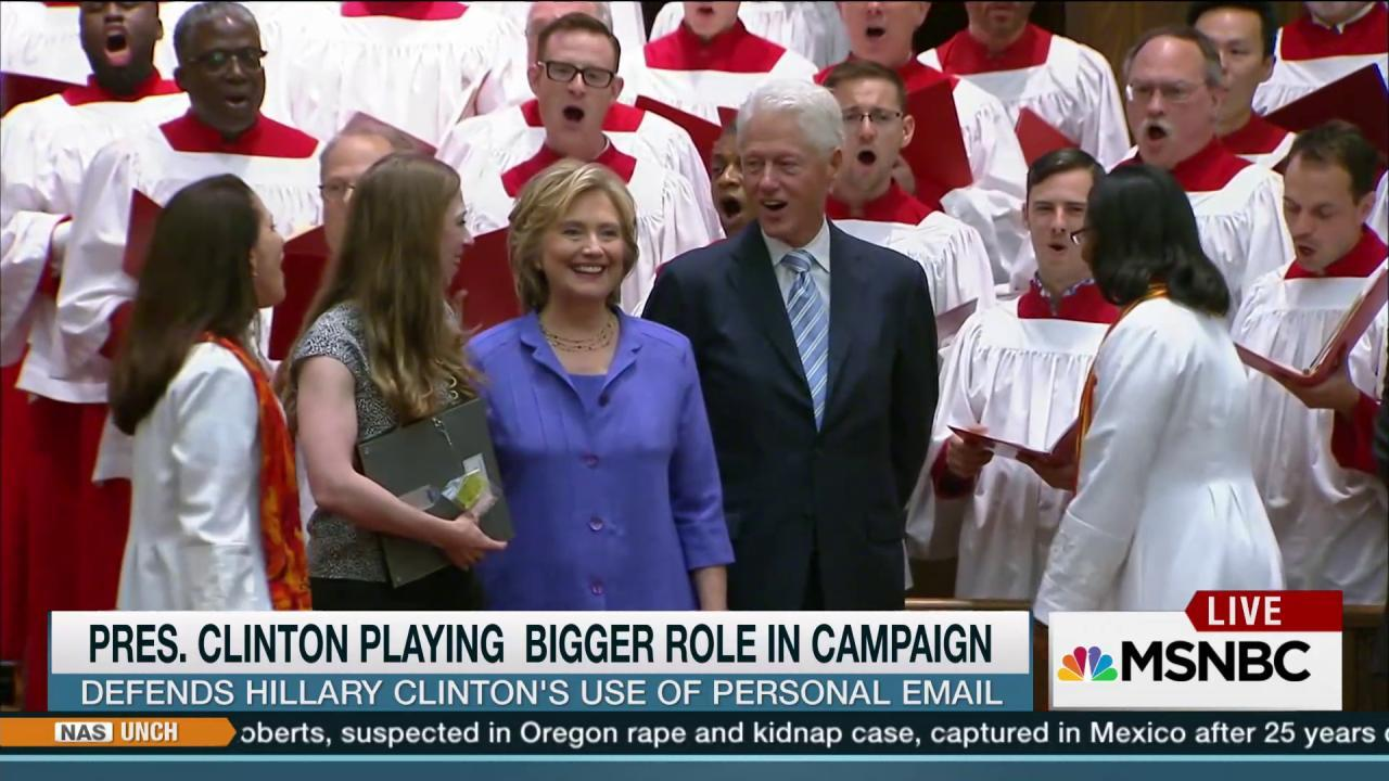 Bill Clinton playing larger role in campaign