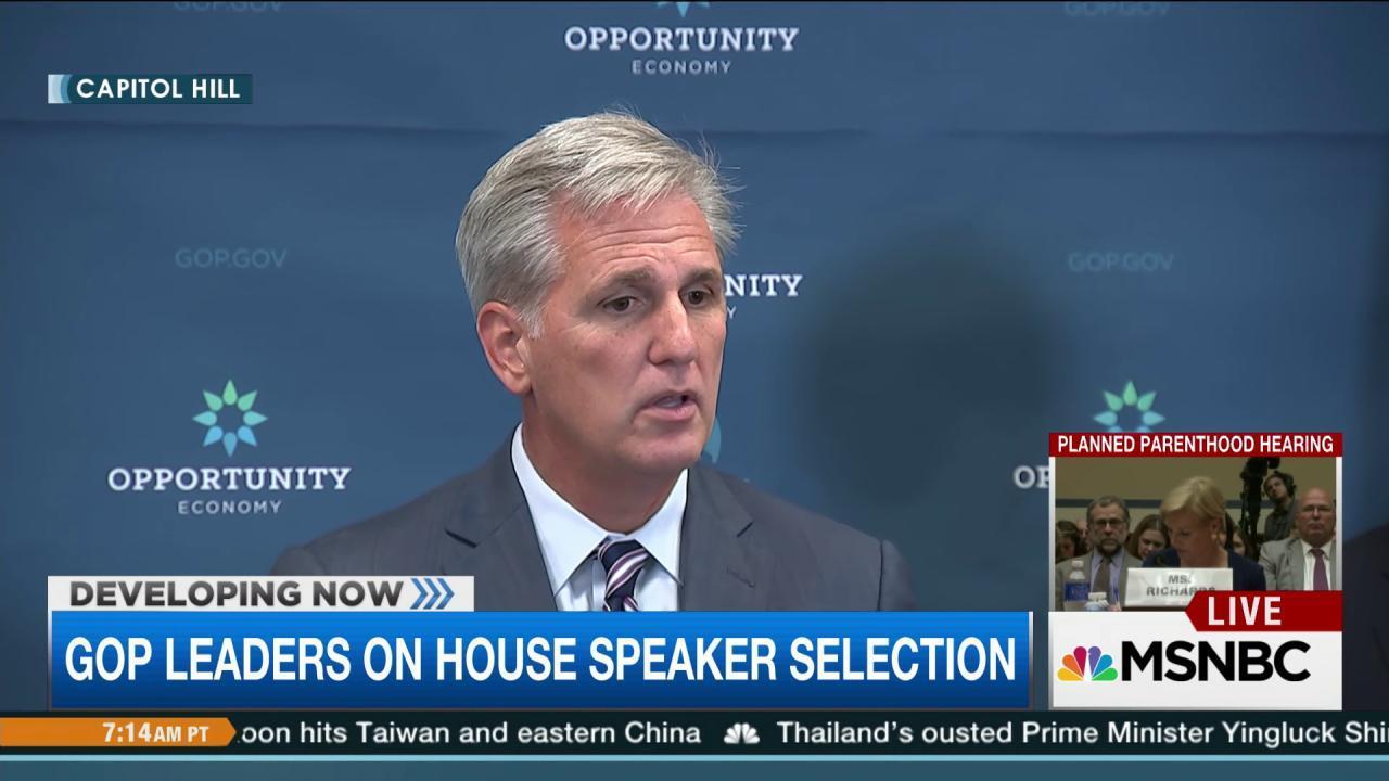 Kevin McCarthy speaks at GOP presser