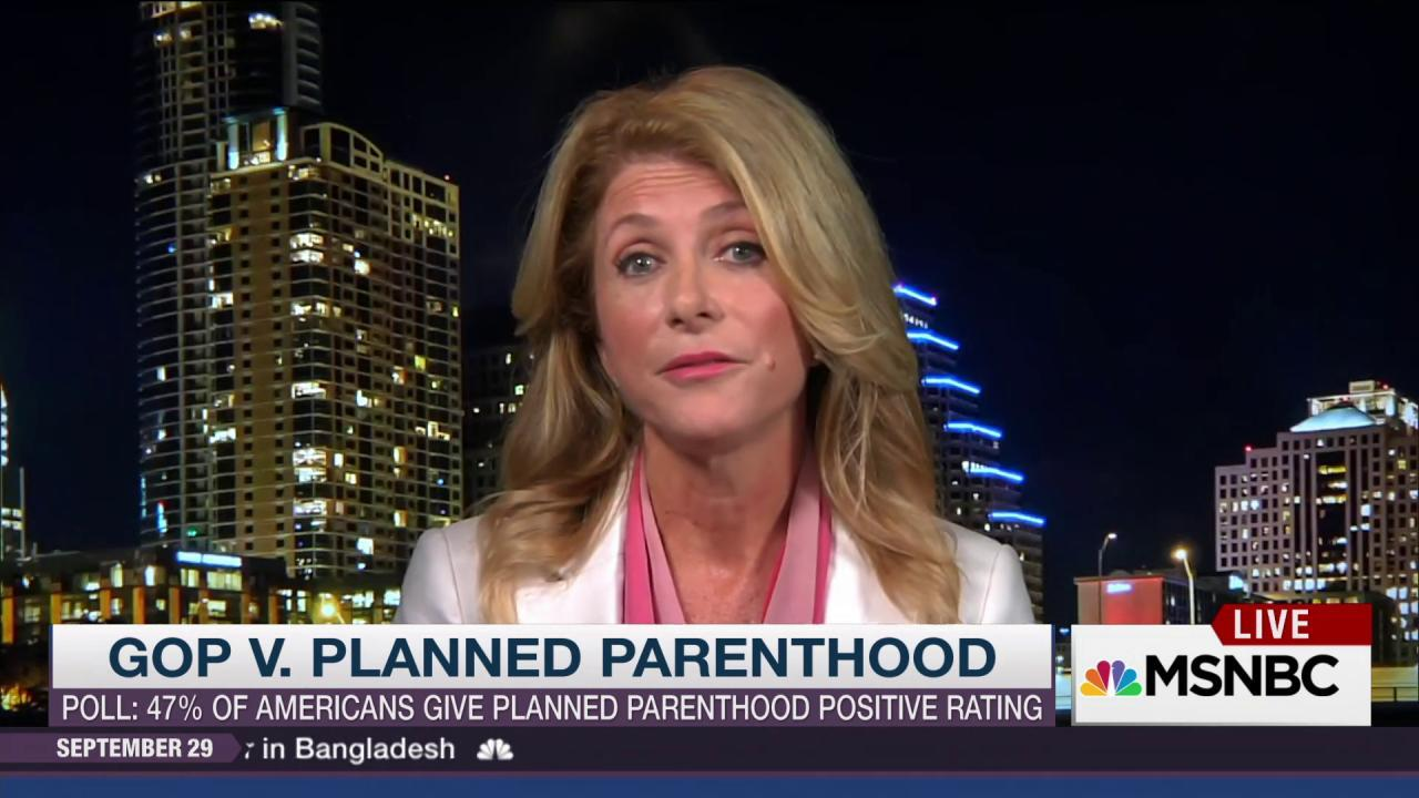 Wendy Davis on Planned Parenthood's...
