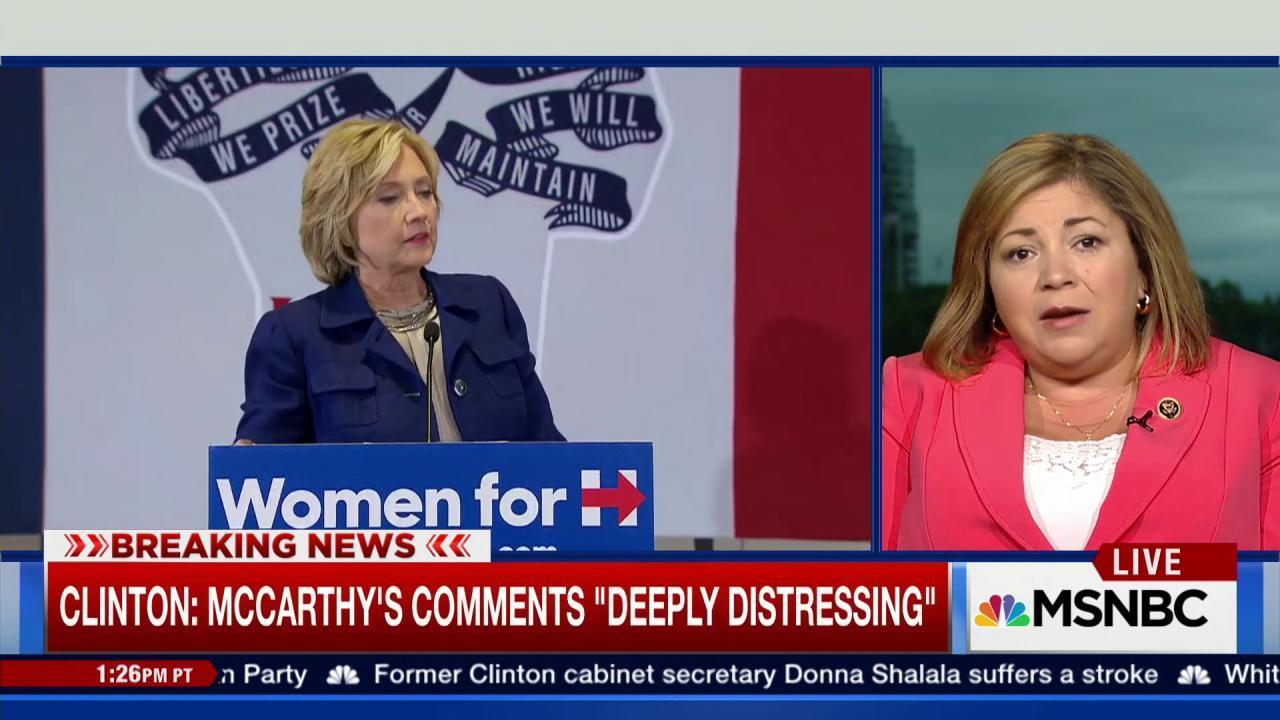 Sanchez defends Clinton's credibility