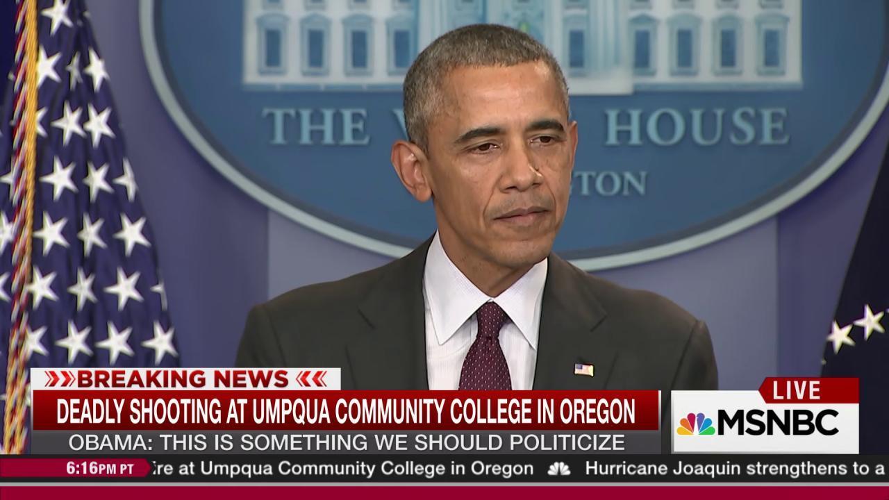 Obama hits policy failure on gun violence