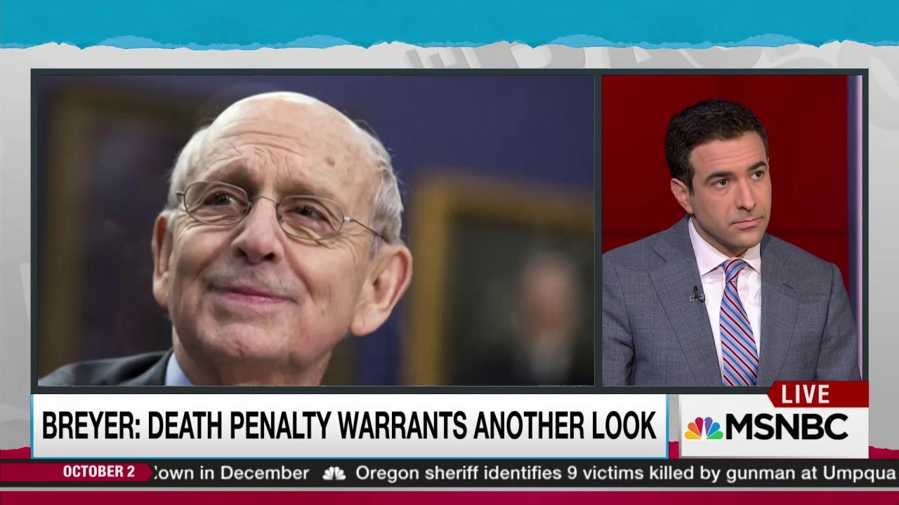 Breyer offers window on death penalty views