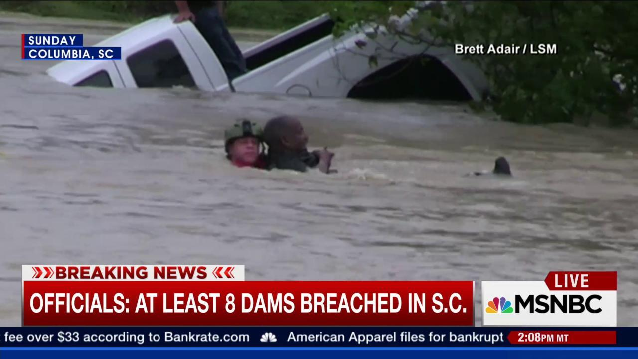 Curfew imposed in Columbia, SC due to floods
